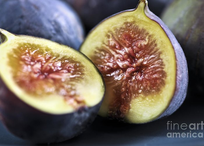 Fig Greeting Card featuring the photograph Figs by Elena Elisseeva
