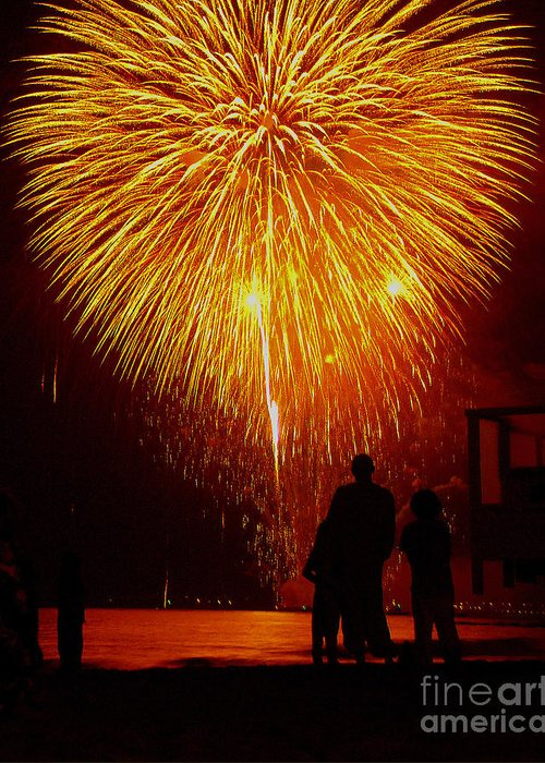 Fireworks Greeting Card featuring the photograph Fireworks by Marc Bittan