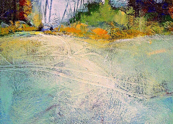 Landscape Greeting Card featuring the painting First Frost by Dale Witherow