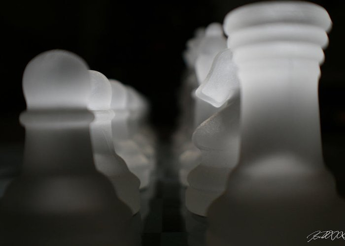 Chess Greeting Card featuring the photograph First Move by Jason Blalock