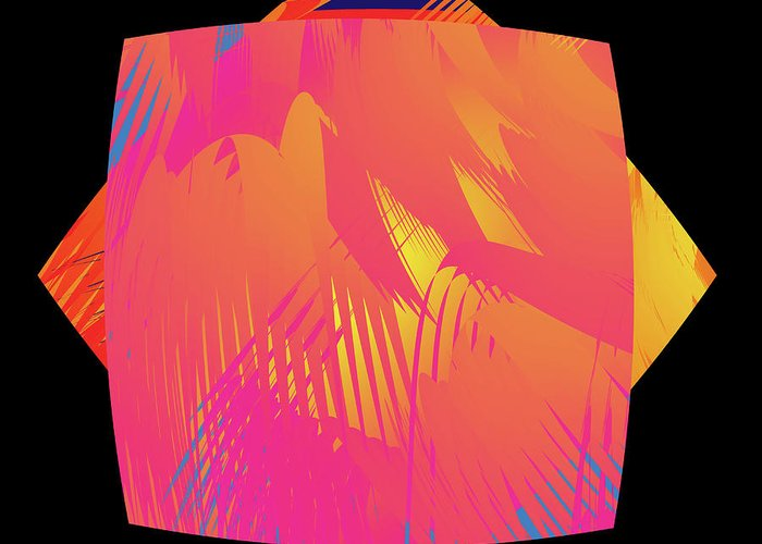 Abstract Greeting Card featuring the digital art Fleuron Composition No. 77 by Alan Bennington