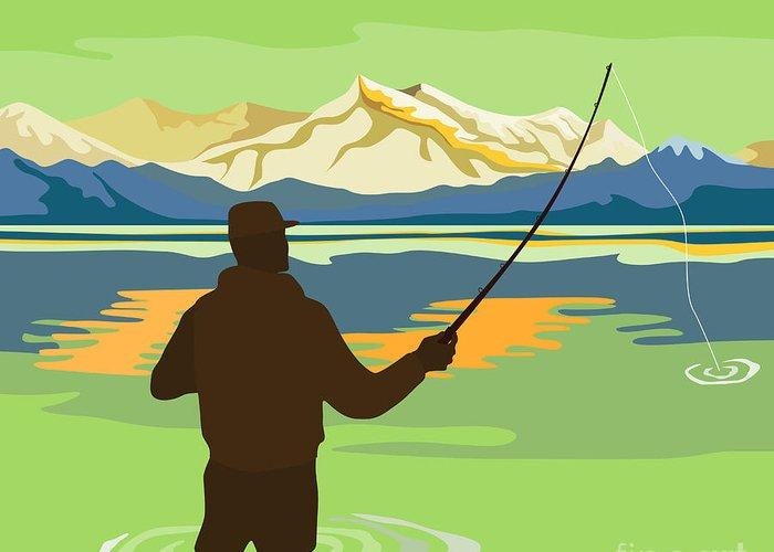 Lake Artwork Greeting Cards