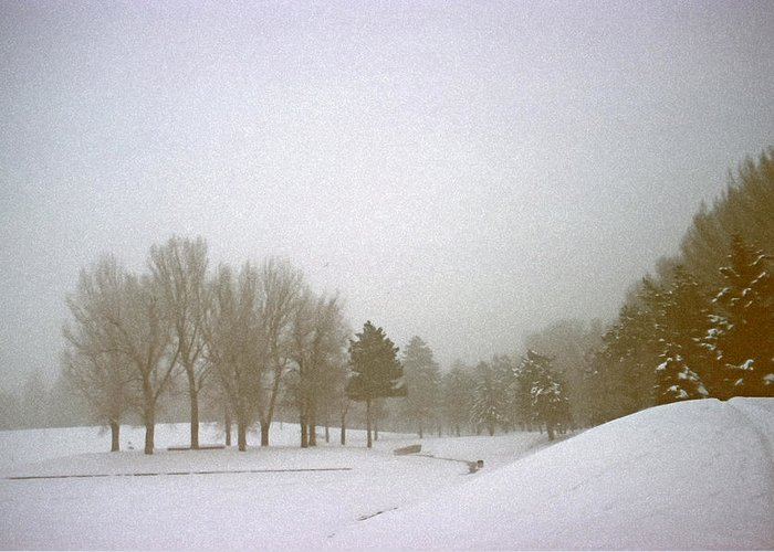 Fog Greeting Card featuring the photograph Foggy Morning Landscape 5 by Steve Ohlsen