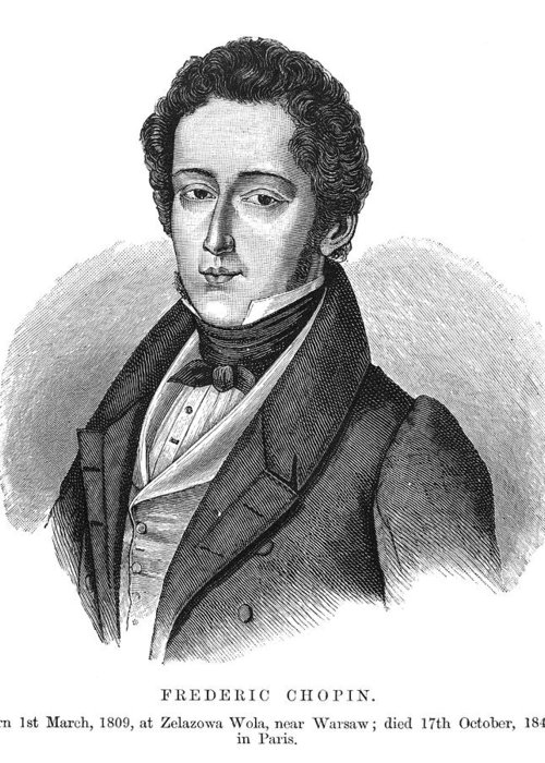 19th Century Greeting Card featuring the photograph Frederic Chopin (1810-1849) by Granger