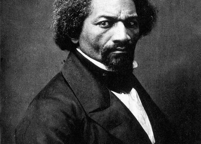 1866 Greeting Card featuring the photograph Frederick Douglass by Granger