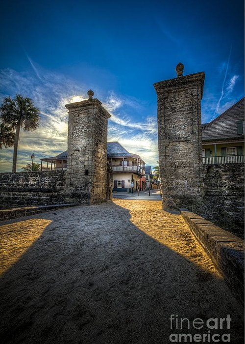 Fort Greeting Card featuring the photograph Gate To The City 2 by Marvin Spates