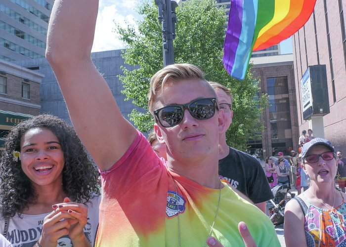 Gay Pride Greeting Card featuring the photograph Gay Pride by Billy Joe