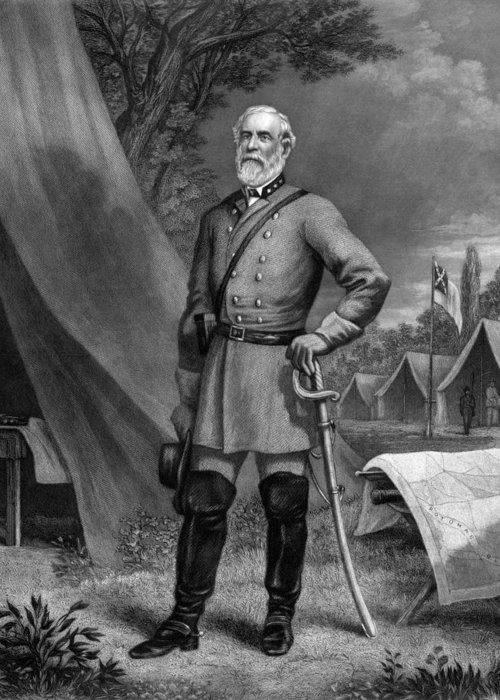 Robert E Lee Greeting Card featuring the drawing General Robert E. Lee by War Is Hell Store