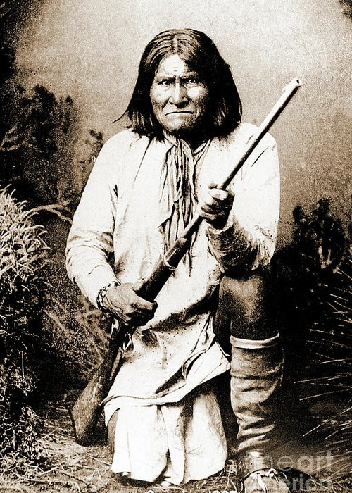Native Greeting Card featuring the photograph Geronimo by Gary Wonning