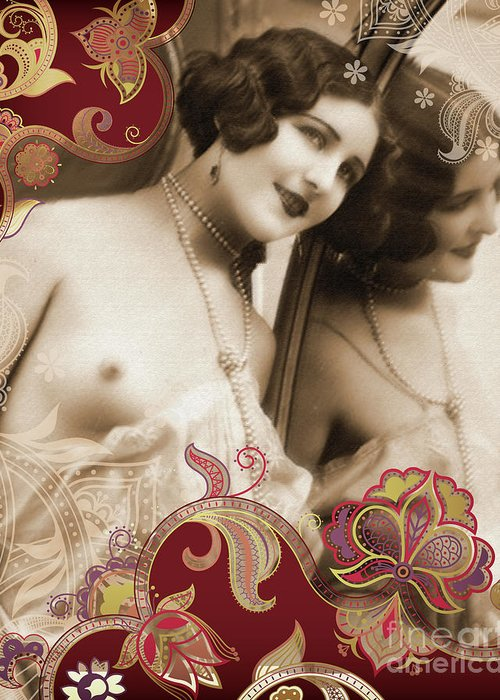 Nostalgic Seduction Greeting Card featuring the photograph Goddess by Chris Andruskiewicz