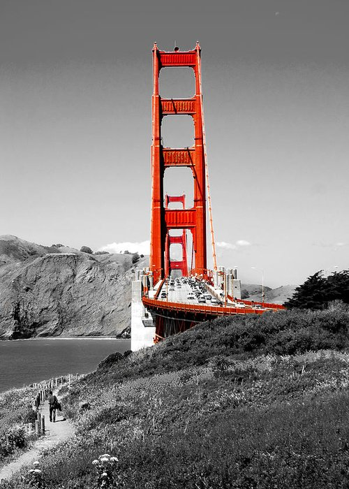 City Greeting Card featuring the photograph Golden Gate by Greg Fortier