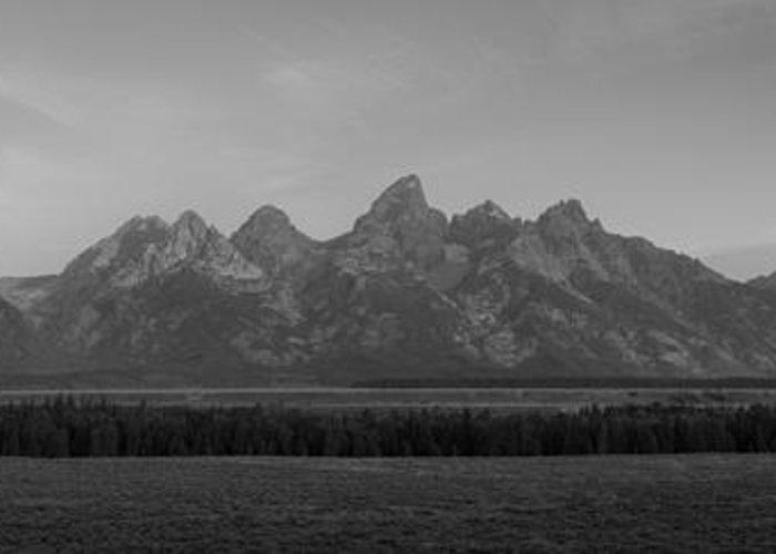 Grand Teton Greeting Card featuring the photograph Grand Teton Mountain Range At Sunrise Panorama by Michael Ver Sprill