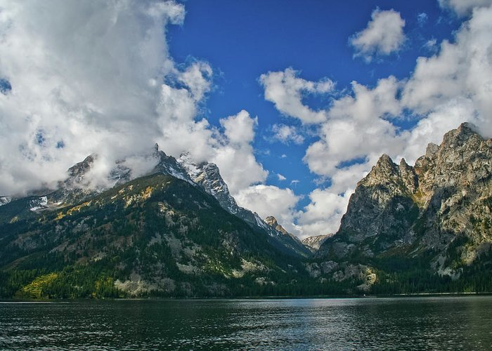 Grand Greeting Card featuring the photograph Grand Tetons by Brent Parks