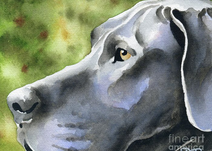Great Greeting Card featuring the painting Great Dane by David Rogers