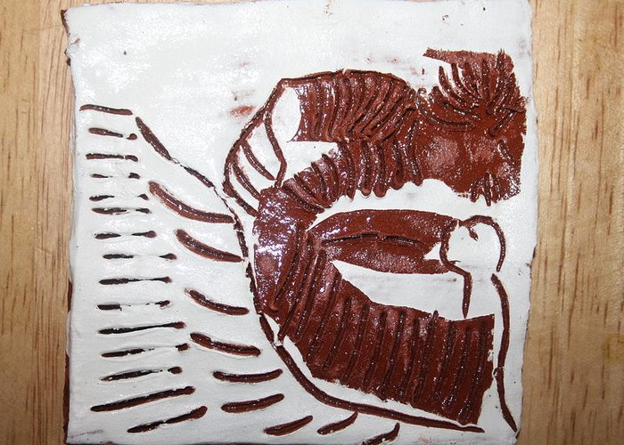 Gloria Photosgloria Photospineapple2pineapple Greeting Card featuring the ceramic art Greeting 10 - Tile by Gloria Ssali