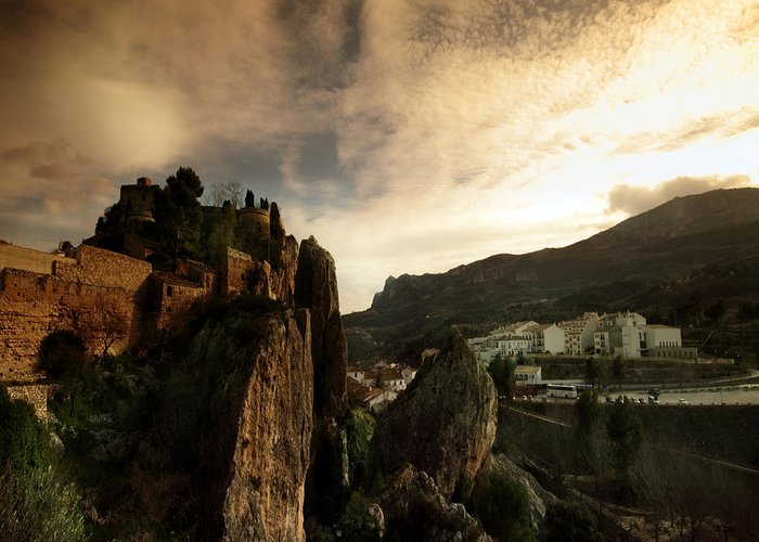 Guadalest Greeting Card featuring the photograph Guadalest by Angel Ciesniarska