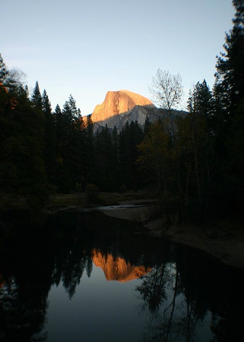 Half Dome Greeting Card featuring the photograph Half Dome Sunset by Travis Day