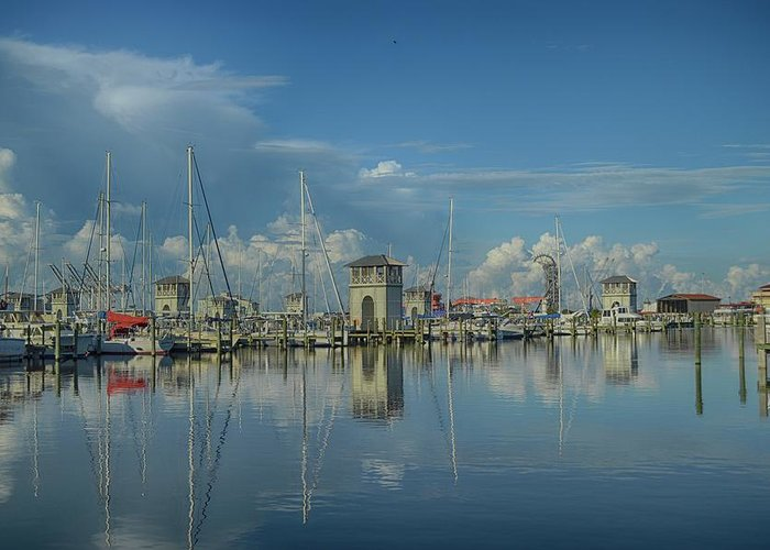 Greeting Card featuring the photograph Harbor Morning by R Michelle Stewart
