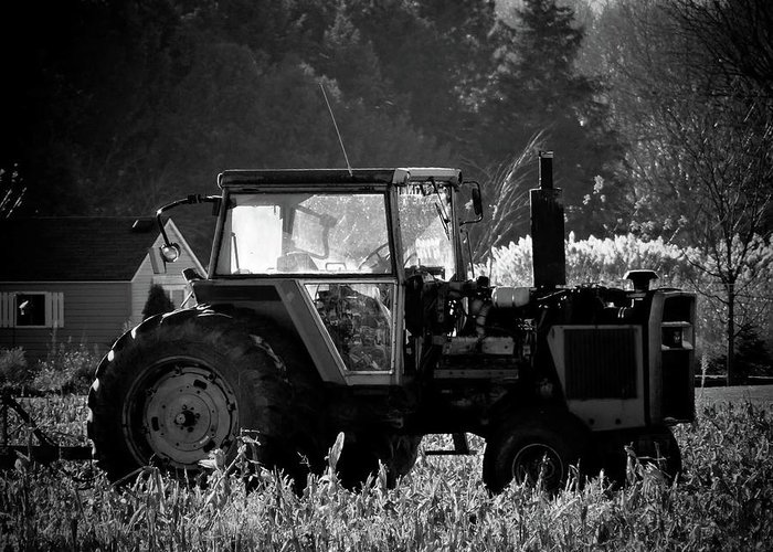 Tractor Greeting Card featuring the photograph Harvesting The Fields by Jenny Regan