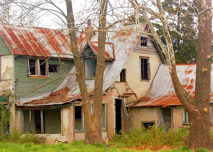 Ozarks Greeting Card featuring the photograph Haunted House by Marty Koch