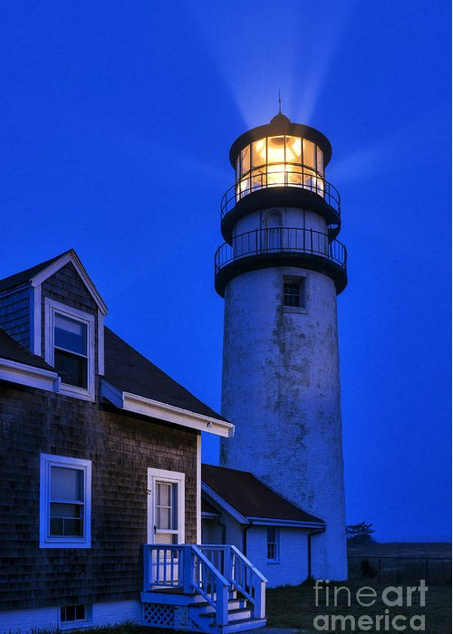 Cape Cod Greeting Card featuring the photograph Highland Lighthouse by John Greim