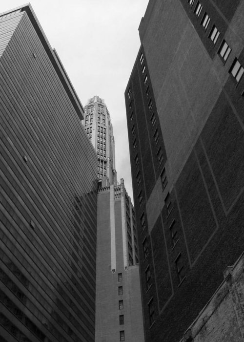 Chicago Greeting Card featuring the photograph Highrises by Michiale Schneider