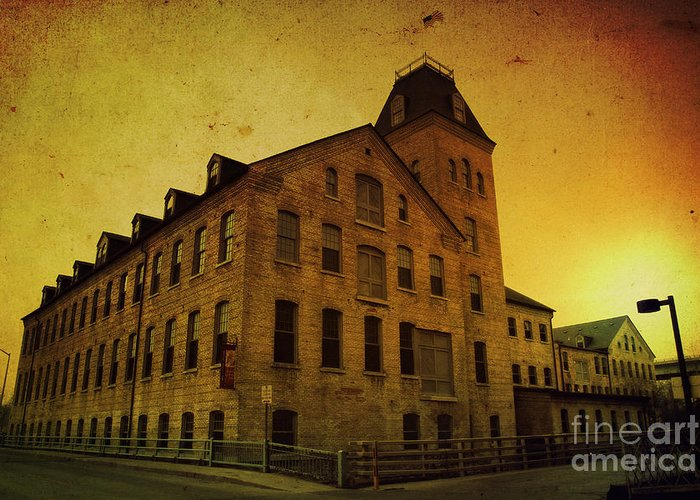 Historic Greeting Card featuring the photograph Historic Fox River Mills by Joel Witmeyer