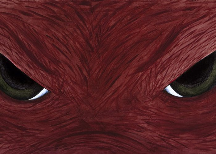 Arkansas Greeting Card featuring the painting Hog Eyes by Amy Parker