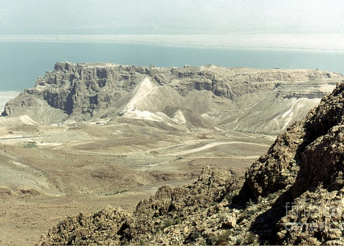 20th Century Greeting Card featuring the photograph Holy Land: Masada by Granger