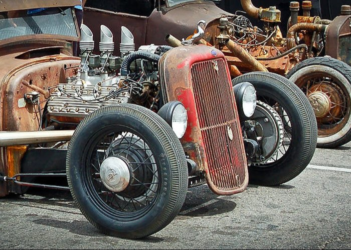 Hot Rods Greeting Card featuring the photograph Hot Rods by Steve McKinzie