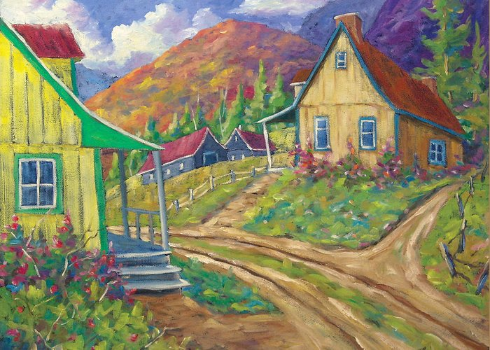 Art Greeting Card featuring the painting House Of Louis by Richard T Pranke