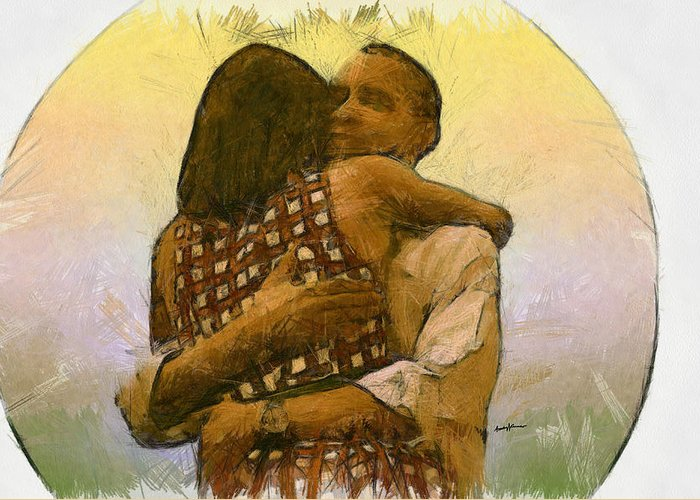 Wife Michelle Obama Greeting Cards