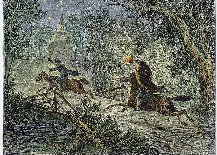 1876 Greeting Card featuring the photograph Irving: Sleepy Hollow by Granger
