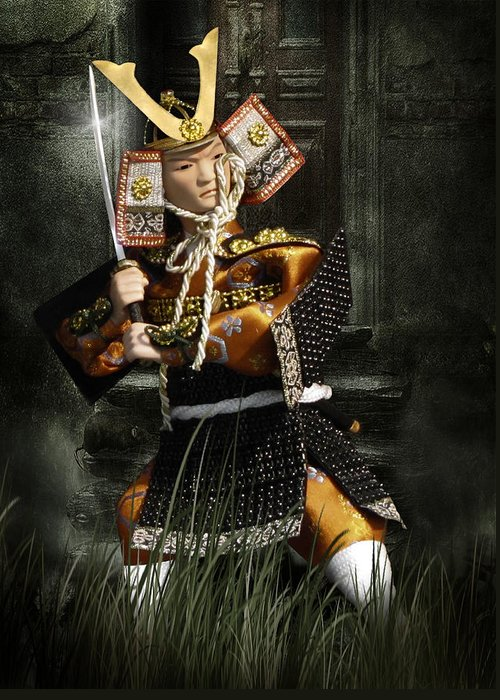 Japan Greeting Card featuring the photograph Japanese Samurai Doll by Christine Till