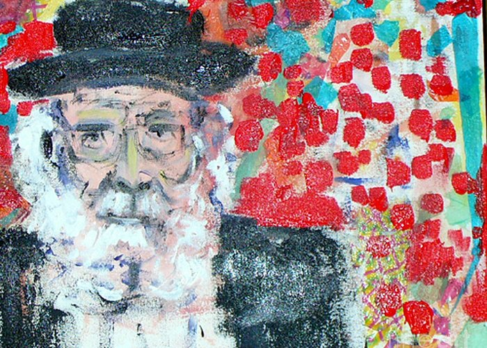 Israel Greeting Card featuring the painting Jerusalem Man by Joyce Goldin