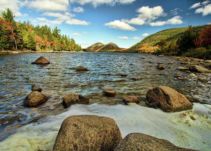 Acadia Greeting Card featuring the photograph Jordan Pond by Alexander Mendoza