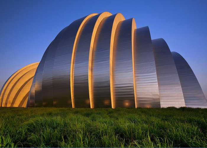 Architecture Greeting Card featuring the photograph Kauffman Center by Ryan Heffron