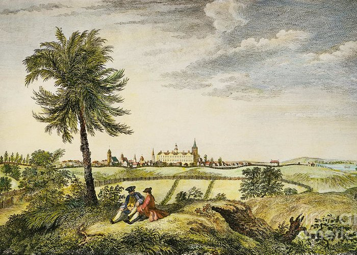 1763 Greeting Card featuring the photograph Kings College, New York by Granger