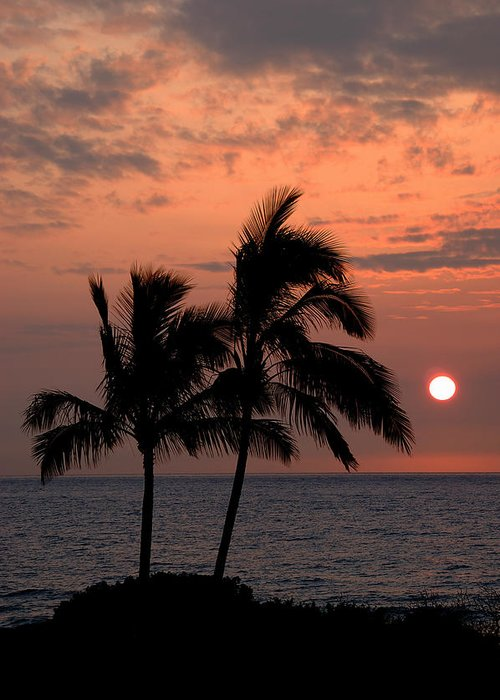 Kona Hawaii Greeting Card featuring the photograph Kona Sunset by Kelly Wade