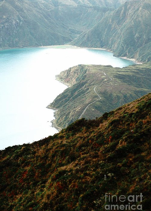 Fogo Crater Greeting Card featuring the photograph Lagoa Do Fogo by Gaspar Avila