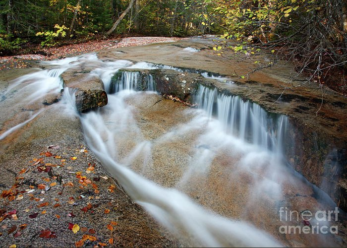 Attraction Greeting Card featuring the photograph Ledge Brook - White Mountains New Hampshire Usa by Erin Paul Donovan
