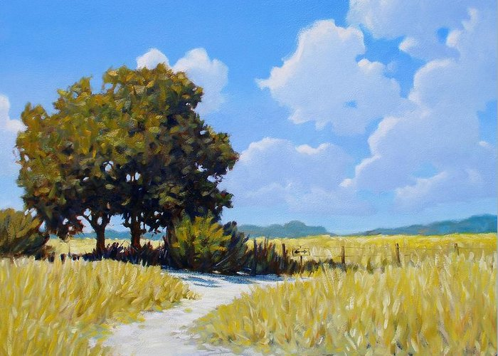 Landscape Greeting Card featuring the painting Left Or Right by Kevin Lawrence Leveque