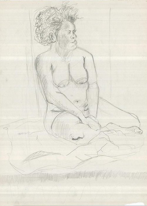 Greeting Card featuring the drawing Life Drawing by Joseph Arico