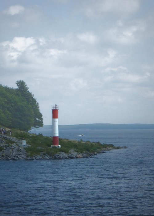 Lighthouse Greeting Card featuring the photograph Lighthouse by Judy Hall-Folde