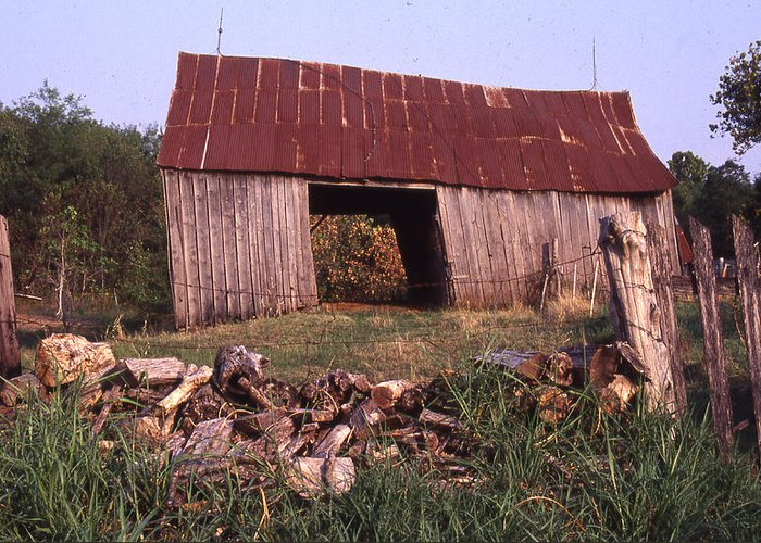 Greeting Card featuring the photograph Lloyd Shanks Barn 4 by Curtis J Neeley Jr