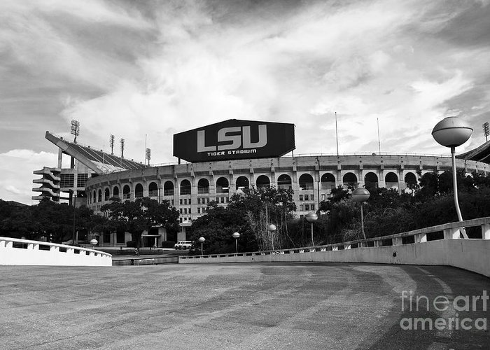 Lsu Greeting Card featuring the photograph Lsu Tiger Stadium by Scott Pellegrin