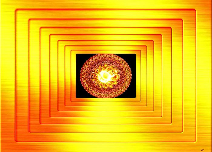 Abstract Greeting Card featuring the digital art Luminous Energy 7 by Will Borden