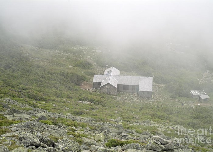 Hike Greeting Card featuring the photograph Madison Spring Hut - White Mountains New Hampshire by Erin Paul Donovan