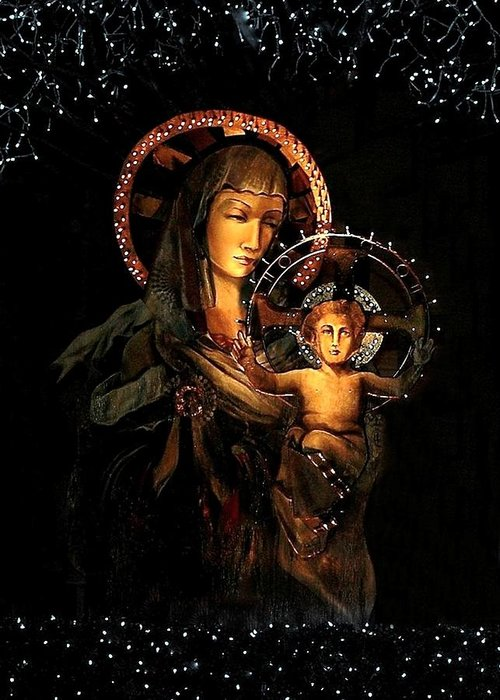 Madonna Greeting Card featuring the photograph Madonna And Child by Ellen O'Reilly
