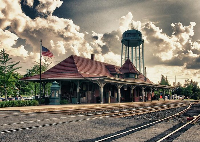 Trainstation Greeting Card featuring the photograph Manassas Train Station by Gene Sizemore